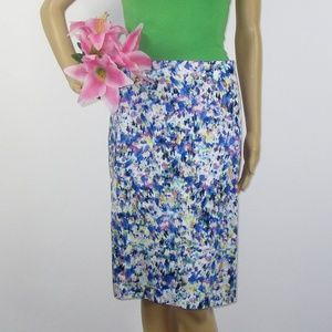 NWT Ann Taylor Romantic Pencil Skirt Size 12 Multi